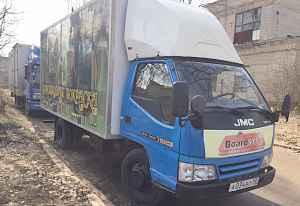 JMC 1032 2.8л, промтоварный фургон, грузовик 2012г