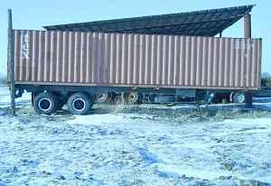 Полуприцеп контейнеровоз с контейнером 12меторв