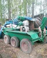 Трактор тс- 350 (тележка самоходная 6 колёс)