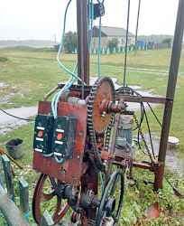 Бурильная установка, греферный погрузчик, грабли