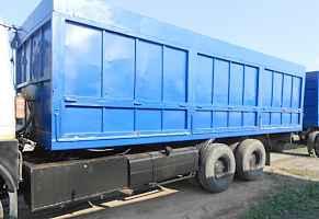 Маз 6303 зерновоз с прицепом