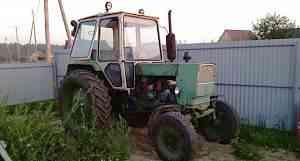 Трактор юмз с телегой