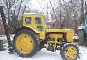 Трактор т 40 с телегой и касилкой