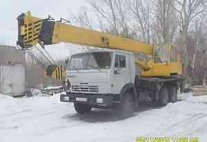 Автокран 16 тонн, вылет стрелы 22 метра