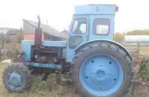 Трактор Т40ам с телегой 2птс4