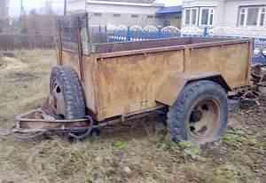 Самосвальный одноосный прицеп для трактора
