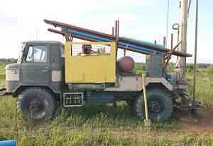 Буровая установка на базе газ-66. С компрессором