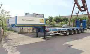Раздвижной 5-осный трал, 62 тонны