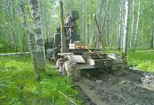 Краз 255 Лесовоз Роспуск с гидроманипулятором