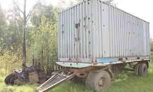 Прицеп-контейнеровоз с контейнером