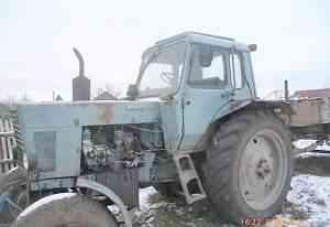 Трактор мтз-82, телега, саг, лопата