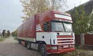 Сцепка. Scania 114L торline+ прицеп Schmitz штора