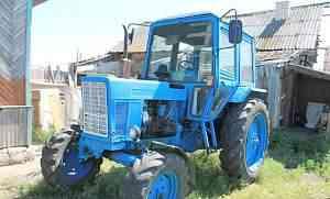 Трактор мтз-80 и телега