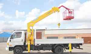 Новый грузовик hyundai с манипулятором 3.2 тн 15 м