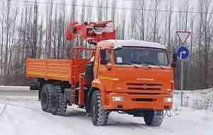 Камаз 43118 с кму kanglim 1256 GII (7 тонн)