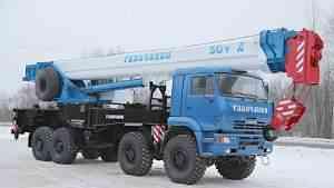 Автокран вездеход 50 т Галичанин стрела 34 м камаз