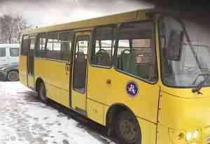 Богдан А-09204 городской автобус с маршрутом