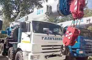 Автокран 32 тонн вездеход Галичанин стрела 30.2 м