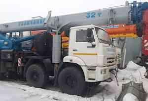 Автокран 32 т камаз вездеход Галичанин 30.2 стрела