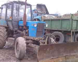 Трактор мтз 82 + эксковаторная установка этц