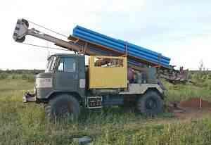 Буровая машина авб-2М на базе газ-66