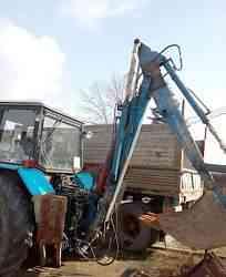 Экскаватор погрузчик эо 2621В 3 на тракторе мтз 82