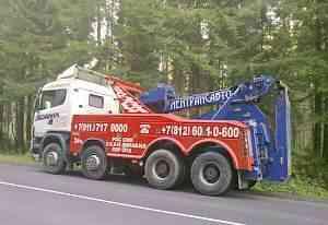 Грузовой эвакуатор Scania 124