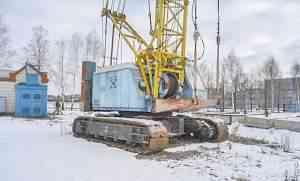 Кран гусеничный скг-505