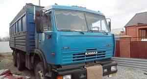 камаз 53212 с прицепом зерновоз двигателе