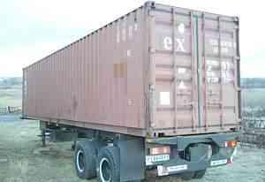 Контейнер 40 футов и полуприцеп контейнеровоз чмаз